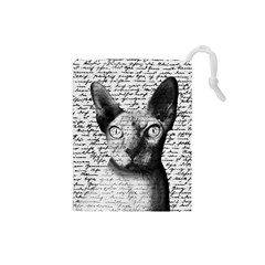 Sphynx cat Drawstring Pouches (Small)