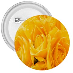 Yellow Neon Flowers 3  Buttons