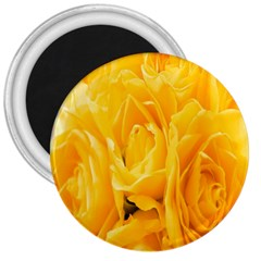 Yellow Neon Flowers 3  Magnets