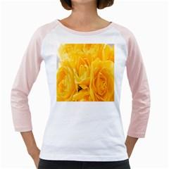 Yellow Neon Flowers Girly Raglans