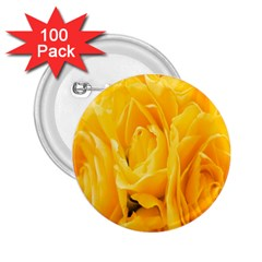 Yellow Neon Flowers 2.25  Buttons (100 pack)