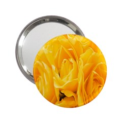 Yellow Neon Flowers 2 25  Handbag Mirrors