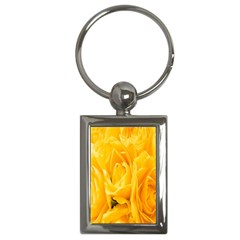 Yellow Neon Flowers Key Chains (rectangle)