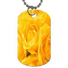 Yellow Neon Flowers Dog Tag (two Sides)