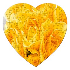 Yellow Neon Flowers Jigsaw Puzzle (Heart)
