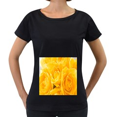 Yellow Neon Flowers Women s Loose Fit T Shirt (black)