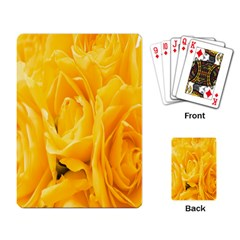 Yellow Neon Flowers Playing Card
