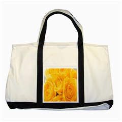 Yellow Neon Flowers Two Tone Tote Bag