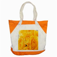 Yellow Neon Flowers Accent Tote Bag
