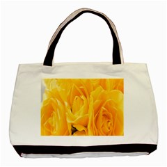 Yellow Neon Flowers Basic Tote Bag (two Sides)