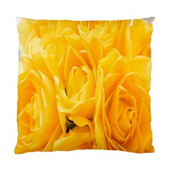 Yellow Neon Flowers Standard Cushion Case (two Sides)