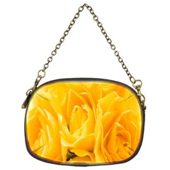 Yellow Neon Flowers Chain Purses (Two Sides)