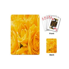Yellow Neon Flowers Playing Cards (Mini)