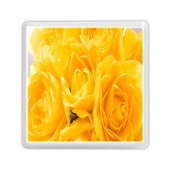 Yellow Neon Flowers Memory Card Reader (square)