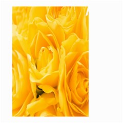 Yellow Neon Flowers Small Garden Flag (Two Sides)