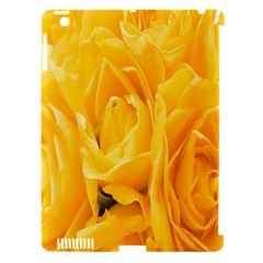 Yellow Neon Flowers Apple iPad 3/4 Hardshell Case (Compatible with Smart Cover)
