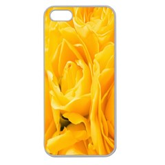 Yellow Neon Flowers Apple Seamless iPhone 5 Case (Clear)