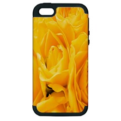 Yellow Neon Flowers Apple iPhone 5 Hardshell Case (PC+Silicone)