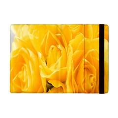Yellow Neon Flowers Apple iPad Mini Flip Case
