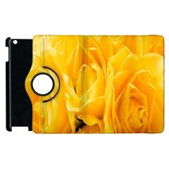 Yellow Neon Flowers Apple iPad 2 Flip 360 Case