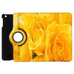 Yellow Neon Flowers Apple iPad Mini Flip 360 Case