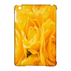 Yellow Neon Flowers Apple iPad Mini Hardshell Case (Compatible with Smart Cover)