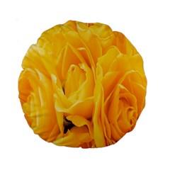 Yellow Neon Flowers Standard 15  Premium Round Cushions