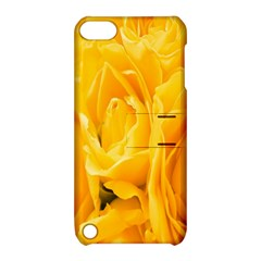 Yellow Neon Flowers Apple iPod Touch 5 Hardshell Case with Stand