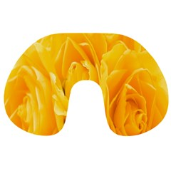 Yellow Neon Flowers Travel Neck Pillows