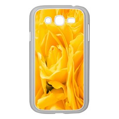 Yellow Neon Flowers Samsung Galaxy Grand DUOS I9082 Case (White)