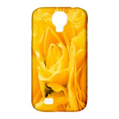 Yellow Neon Flowers Samsung Galaxy S4 Classic Hardshell Case (PC+Silicone)
