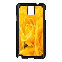 Yellow Neon Flowers Samsung Galaxy Note 3 N9005 Case (Black)