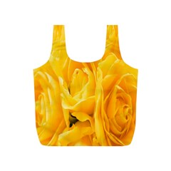 Yellow Neon Flowers Full Print Recycle Bags (S)