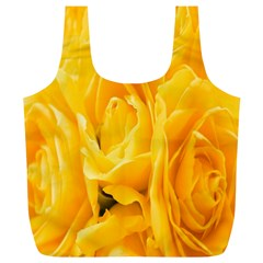 Yellow Neon Flowers Full Print Recycle Bags (L)