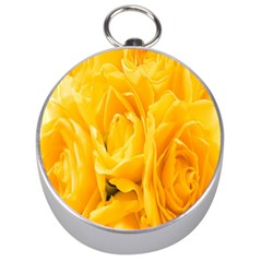 Yellow Neon Flowers Silver Compasses