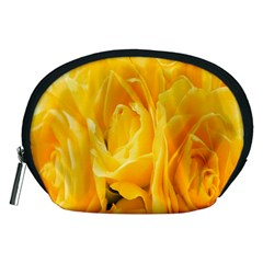 Yellow Neon Flowers Accessory Pouches (Medium)