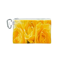 Yellow Neon Flowers Canvas Cosmetic Bag (S)