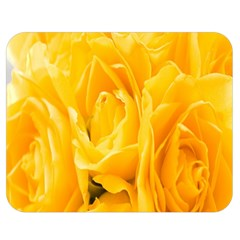 Yellow Neon Flowers Double Sided Flano Blanket (Medium)