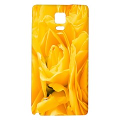 Yellow Neon Flowers Galaxy Note 4 Back Case