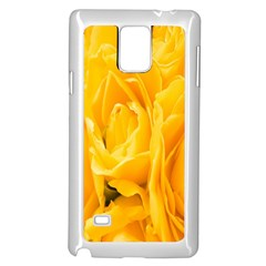 Yellow Neon Flowers Samsung Galaxy Note 4 Case (White)