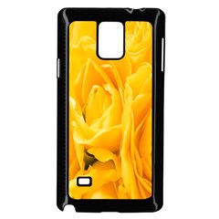 Yellow Neon Flowers Samsung Galaxy Note 4 Case (Black)
