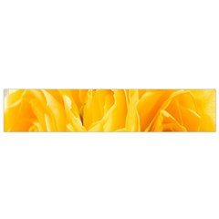 Yellow Neon Flowers Flano Scarf (Small)