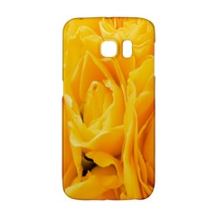 Yellow Neon Flowers Galaxy S6 Edge