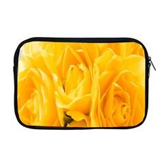 Yellow Neon Flowers Apple Macbook Pro 17  Zipper Case