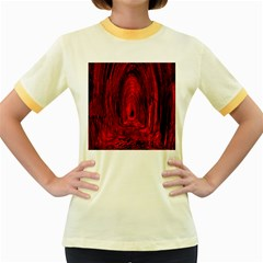 Tunnel Red Black Light Women s Fitted Ringer T-Shirts