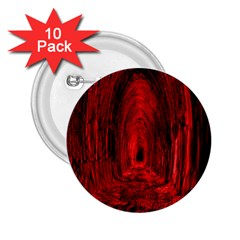 Tunnel Red Black Light 2.25  Buttons (10 pack)