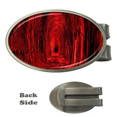 Tunnel Red Black Light Money Clips (Oval)