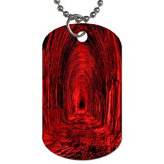 Tunnel Red Black Light Dog Tag (One Side)