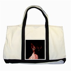 Sphynx cat Two Tone Tote Bag