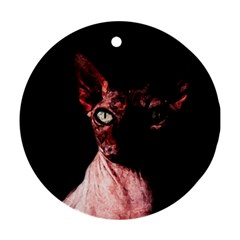 Sphynx cat Round Ornament (Two Sides)
